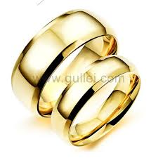 engraved rings gold images Outside engraved matching titanium simple wedding rings jpg