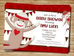 baby shower invitations free printable sock monkey baby shower