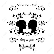 Black And White Invitation Card Save The Date Invitation Card Vintage Design With Elegant Flourish