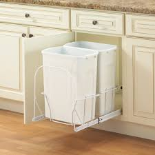 kitchen rev a shelf plastic pull out trash can removable handle