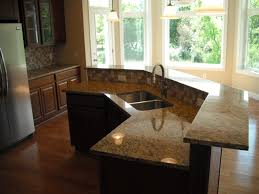 astonishing dark granite countertops cherry cabinets in brown