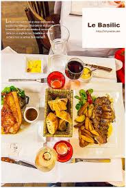 les fran軋is et la cuisine 美食巴黎 le basilic 蒙馬特羅勒餐廳 城市 食畫誌