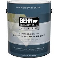 Behrs Furniture Store by Behr Premium Plus Ultra 1 Gal Ultra Pure White Satin Enamel