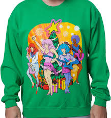 christmas sweater jem the holograms faux christmas sweater 80s christmas