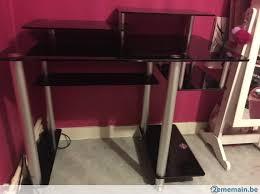 bureau en verre bureau en verre noir a vendre 2ememain be