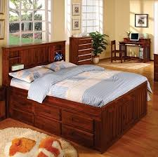 beautiful full size captains bed with bookcase headboard 30 on