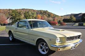 1965 yellow mustang 1965 ford mustang fastback 2 2 289 5 speed springtime yellow