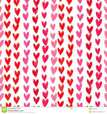 heart wrapping paper velentine s day pattern with painted hearts stock photo