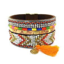 magnetic wrap bracelet images Beads bracelets leather magnetic wrap bracelets 3 sizes jpg