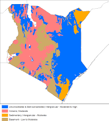 Map Of Kenya Africa by Africa Groundwater Atlas British Geological Survey Bgs
