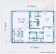 Barn Plans by Country Barn Floor Plan Living Space Above Stalls 30x40 Garage