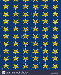 repeating halloween background illustration of cartoon star face on a repetitive wallpaper design