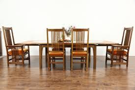 sold stickley signed cherry craftsman design 1995 dining set