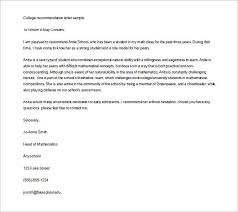 best ideas of letter of recommendation template for college