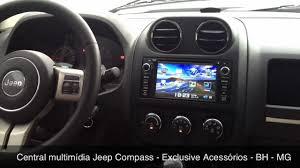 compass jeep 2009 central multimídia jeep compass exclusive acessórios bh mg