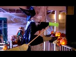witch crash yard decoration halloween craft babble youtube