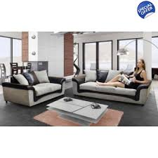 alaska fabric sofa set black and grey