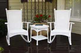 White Wicker Patio Furniture - white wicker rocking chair