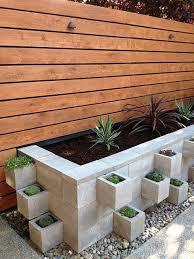 Large Planter Box by Cinder Blocks Large Planter Box Backyard Pinterest