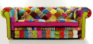 Chesterfield Patchwork Sofa Bespoke Patchwork Chesterfield Sofa In Designer By Justinadesign