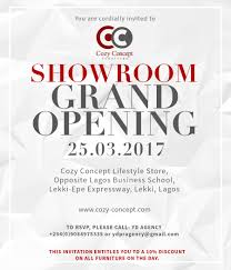 Office Opening Invitation Card Cozy Concepts Launch In Lagos Nigeria Exquisite Magazine