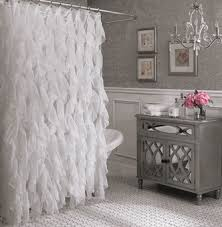 Lorraine Curtains Shower Curtains Cascade Vertical Ruffled Shower Curtain By