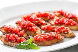 cuisine appetizer bruschetta with tomato and basil recipe simplyrecipes com