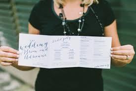 programs for wedding ceremony 8 wedding ceremony program ideas every last detail