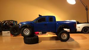 Ford Raptor Orange - axial scx10 with 2016 ford raptor hard body youtube