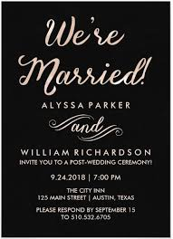 wedding reception invitation wording after ceremony 21 beautiful at home wedding reception invitations wedding