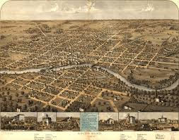 Map Dayton Ohio by Ruger U0027s Birdseye Map Of South Bend Indiana 1866