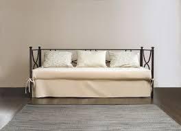 divanetto letto singolo divano letto estraibile duetto in ferro battuto offertematerassi