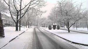 beautiful snowy day in ridgefield park new jersey youtube