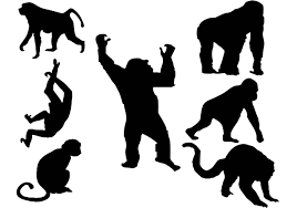 Free Silhouette Images Free Monkey Silhouette Vector Download Free Vector Art Stock