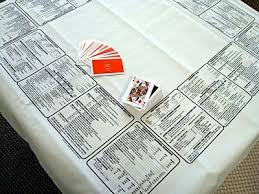 card game table cloth bridge card game party table cloth with game instructions