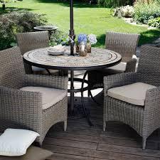 Outdoor Patio Set With Umbrella Resin Wicker Patio Dining Table Patio Furniture