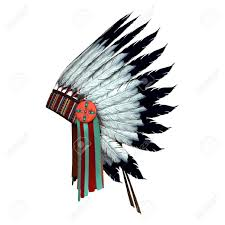Stock Feather Flags 3d Digital Render Of A Native American War Bonnet Isolated On