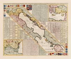 venice map venice 1718 republic of venice gulf of venice chatelain