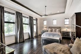 Curtains In A Grey Room Gray Bedroom With Grey Silk Curtains Transitional Bedroom