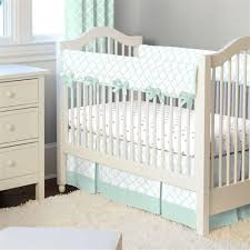 Mint Green Crib Bedding Mint Circles 2 Crib Bedding Set Carousel Designs