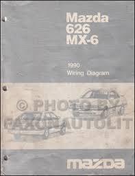 1990 mazda 626 and mx 6 wiring diagram manual original