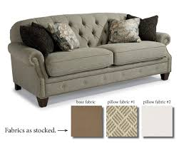 flexsteel champion transitional button tufted sofa with rolled