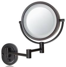 jerdon style euro design tri fold lighted mirror hotel collection makeup mirror houzz