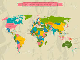world maps free editable world map with all countries royalty free cliparts