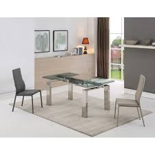 whiteline modern living dt1234 cuatro extendable dining table in
