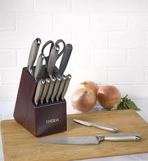 oneida kitchen knives amazon com oneida 14pc preferred stainless steel cutlery set