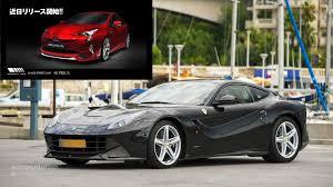 Ferrari F12 2016 - 2016 toyota prius gets ferrari f12 face from wald international