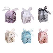 Heart Shaped Candy Boxes Wholesale 100pcs Set Wedding Candy Box Hollow Carriage Love Heart Party