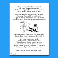 Wedding Gift Money Poem Appealing Funny Poems For Wedding Invitations 51 About Remodel