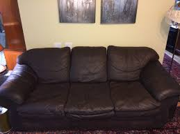 Aged Leather Sofa Before U0026 After Leather Furniture Recovery Having Doing Being Art